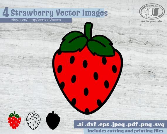 Strawberry svg cut file. Strawberries clipart pdf
