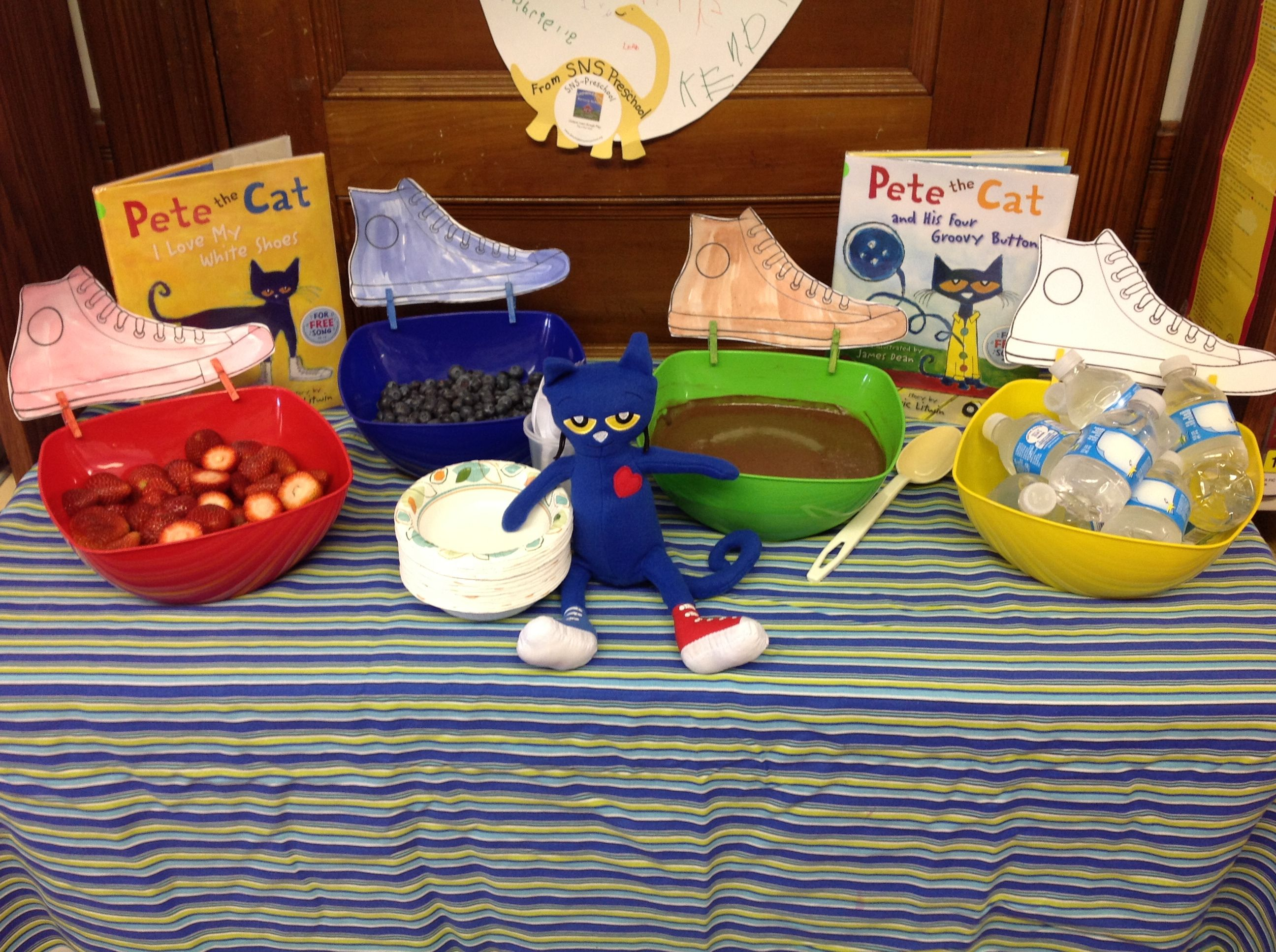 Snacks to go with. Strawberries clipart pete the cat