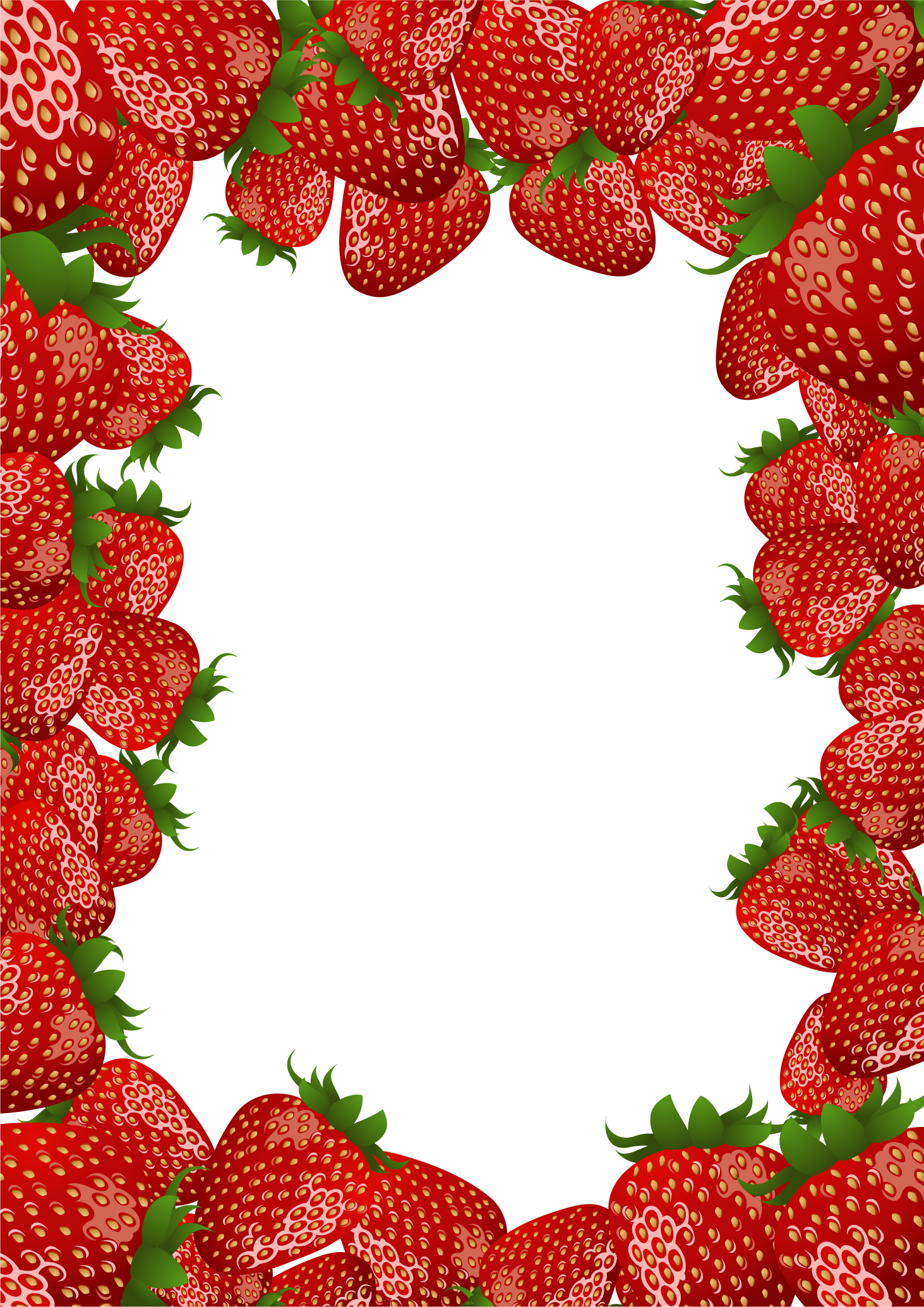 Strawberries clipart pink strawberry, Strawberries pink ...