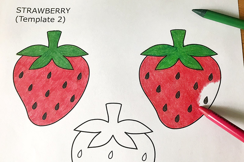 Strawberry free templates coloring. Strawberries clipart printable