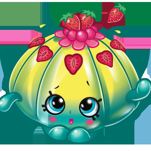 Strawberries clipart shopkins. Season cute fruit jello