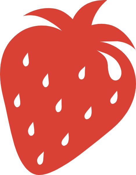 Free online strawberry fruit. Strawberries clipart silhouette