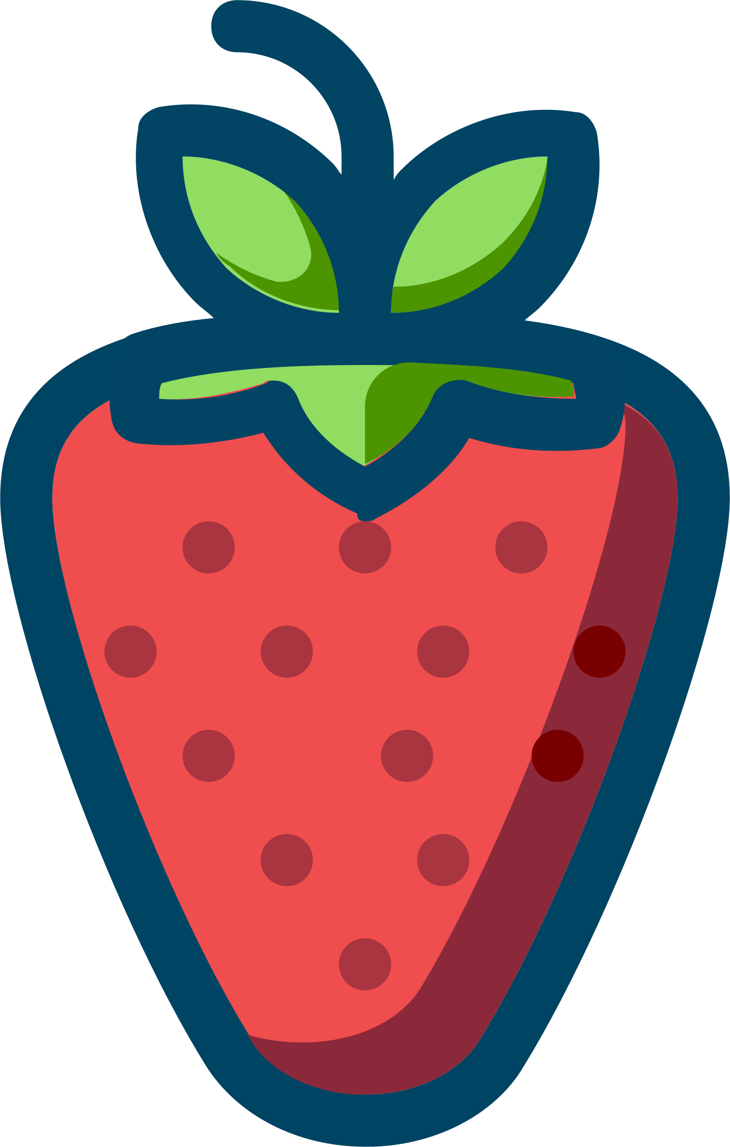 Strawberries clipart silhouette. Strawberry big image png