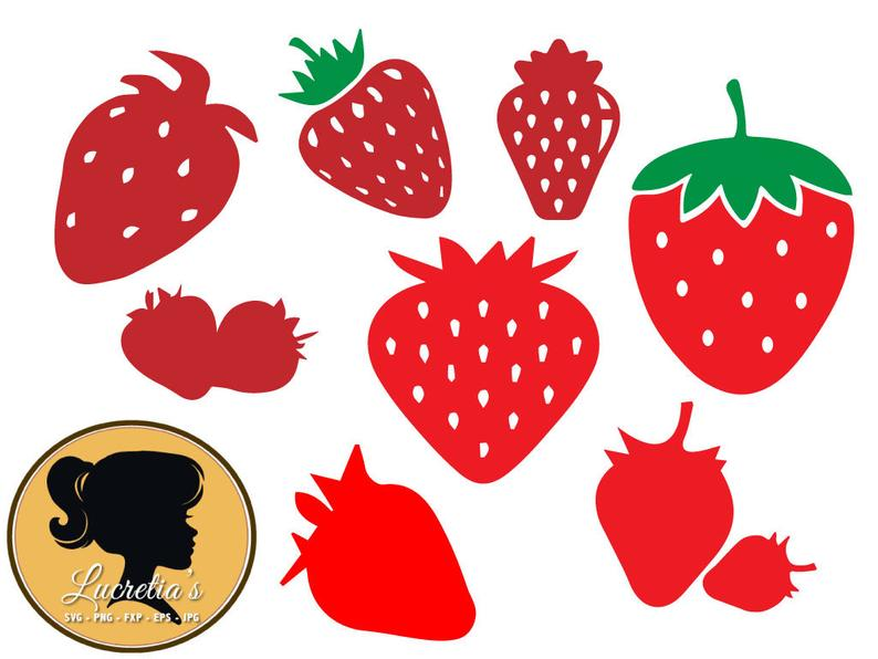Strawberry svg dxf files. Strawberries clipart silhouette