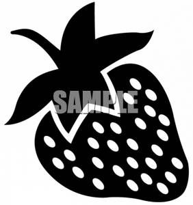 Strawberries clipart silhouette. Of a strawberry baby