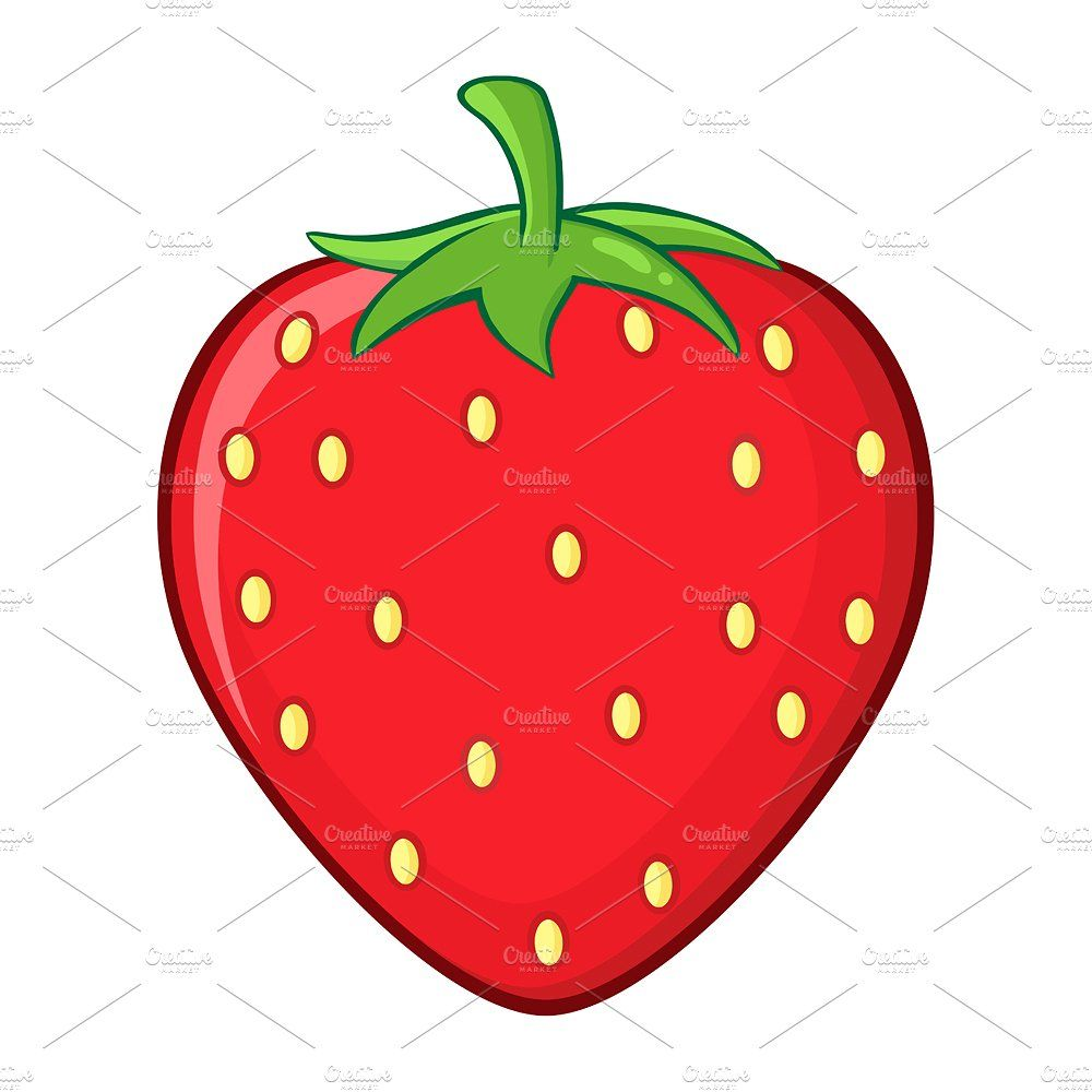 Fruit design drawing . Strawberries clipart simple strawberry