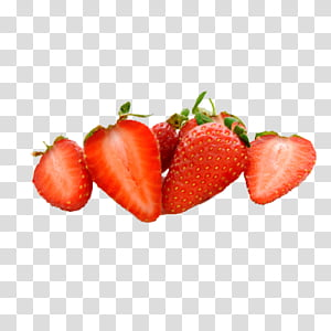 Fruits transparent background png. Strawberries clipart sliced strawberry