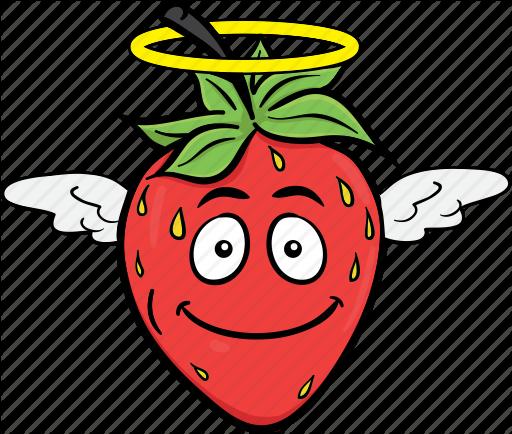 strawberry emoji cartoons. Strawberries clipart smiley