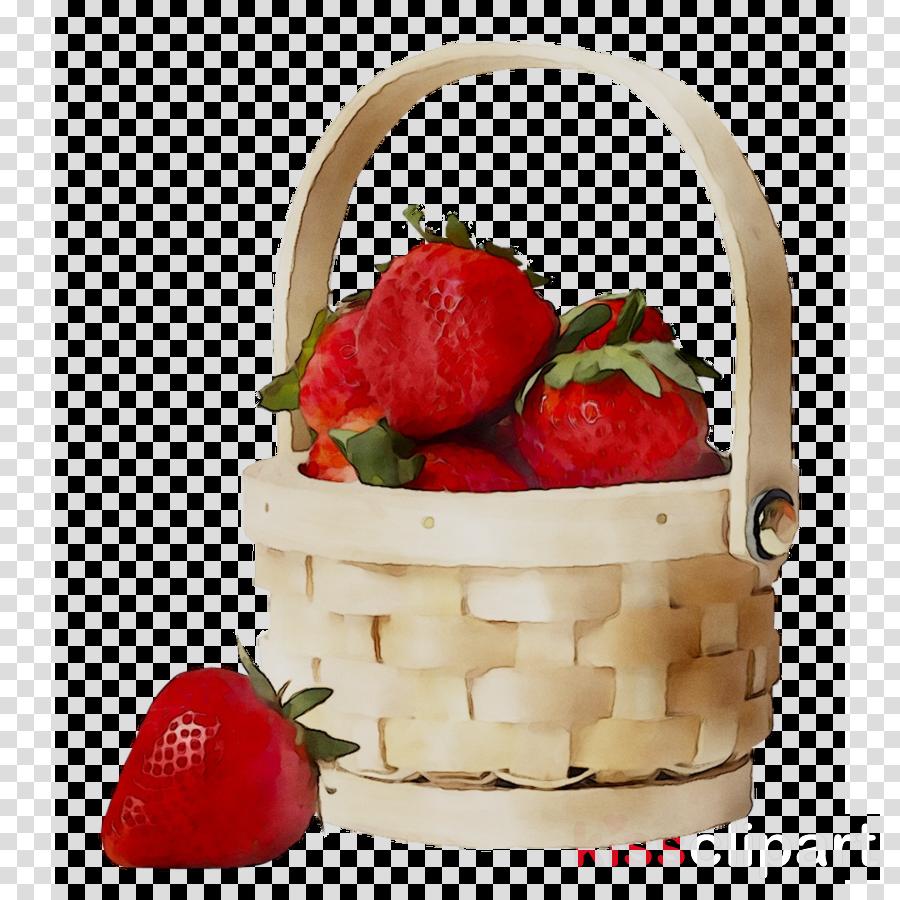 Strawberries clipart strawberry basket. Gift cartoon tea transparent