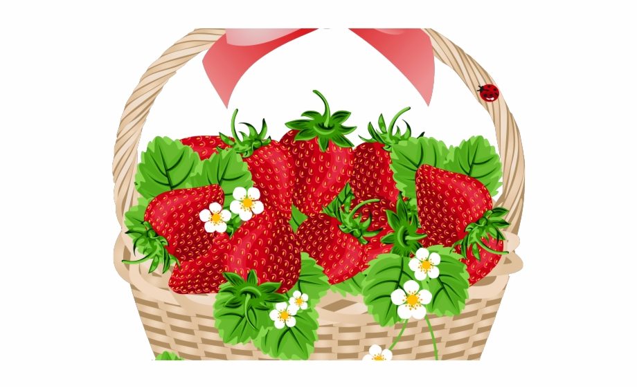 Strawberries clipart strawberry basket. Slice drawing
