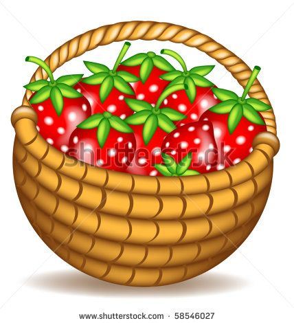 Free clip art outline. Strawberries clipart strawberry basket