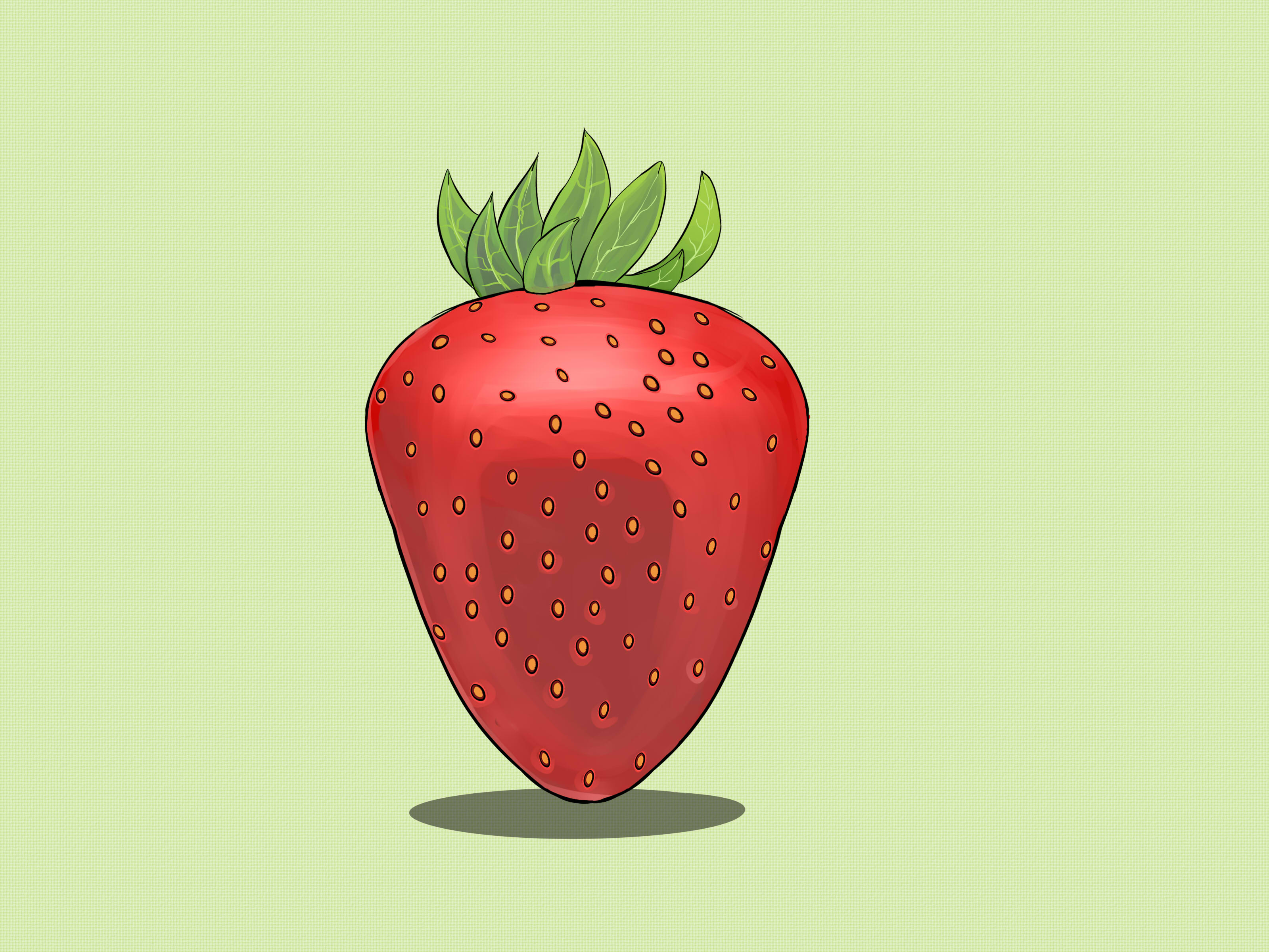 How to draw steps. Strawberries clipart strawberry drawing