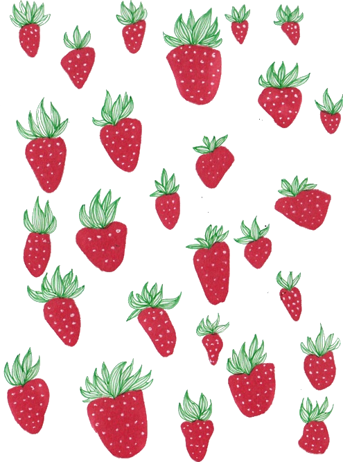 Tumblr drawing red green strawberries strawberry fruit