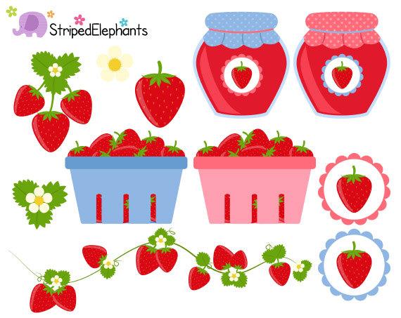 Clip art jam digital. Strawberries clipart strawberry field
