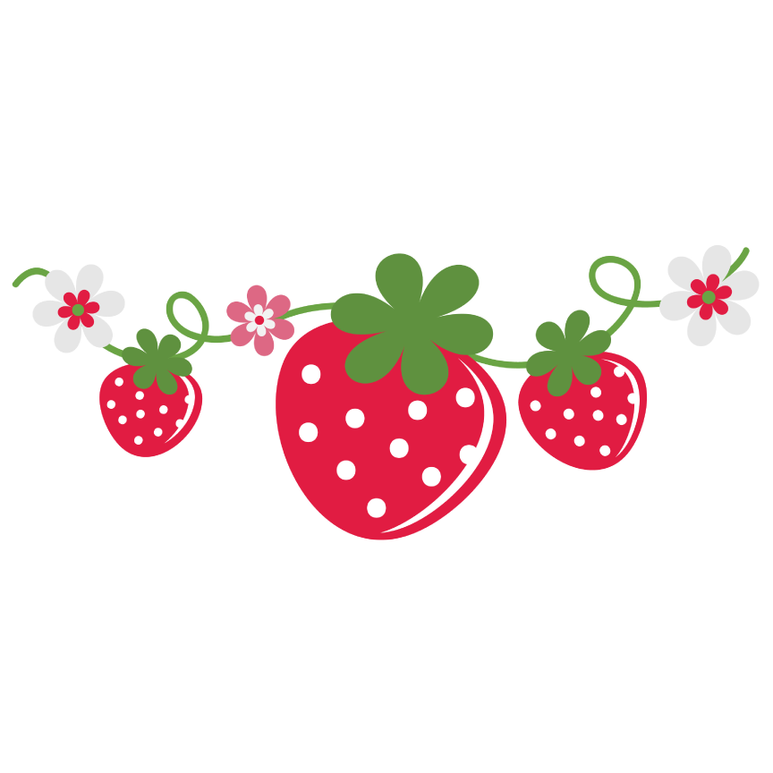 Strawberries clipart strawberry field. With a lemon behind