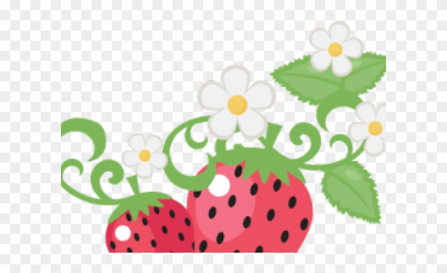 Strawberries clipart strawberry flower. Cute png