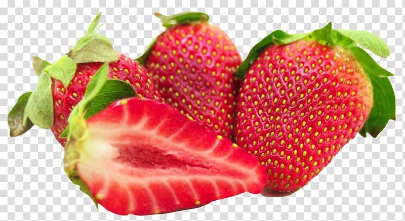 Strawberries clipart strawberry leave. Four ripe ice cream