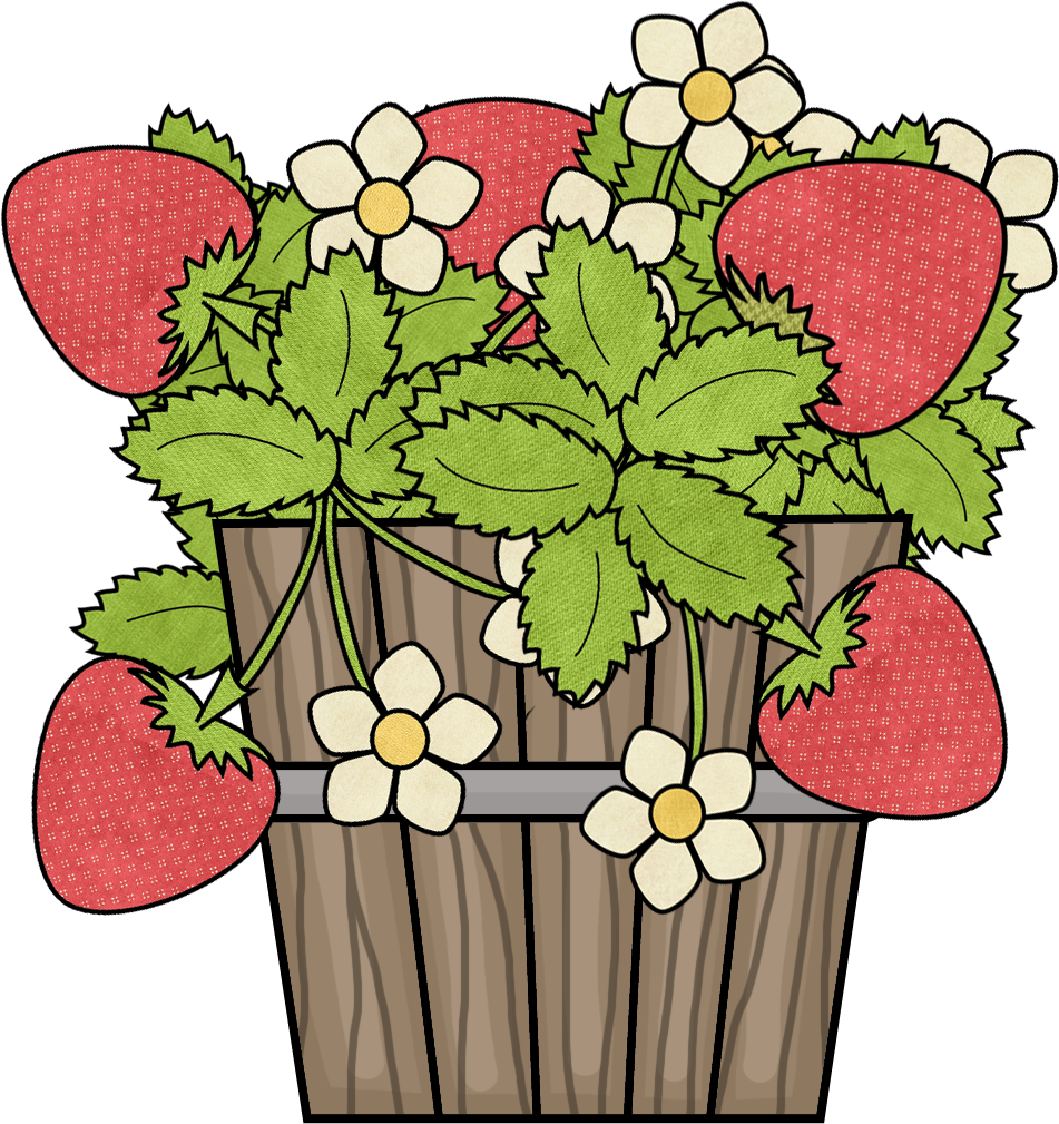 Strawberries clipart strawberry patch. Girl png pinterest art