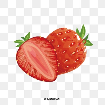 Strawberries clipart strawberry slice. Png images vector and