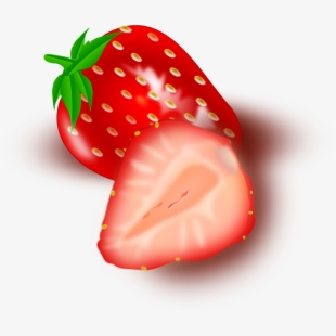 Fruits sliced slices red. Strawberries clipart strawberry slice