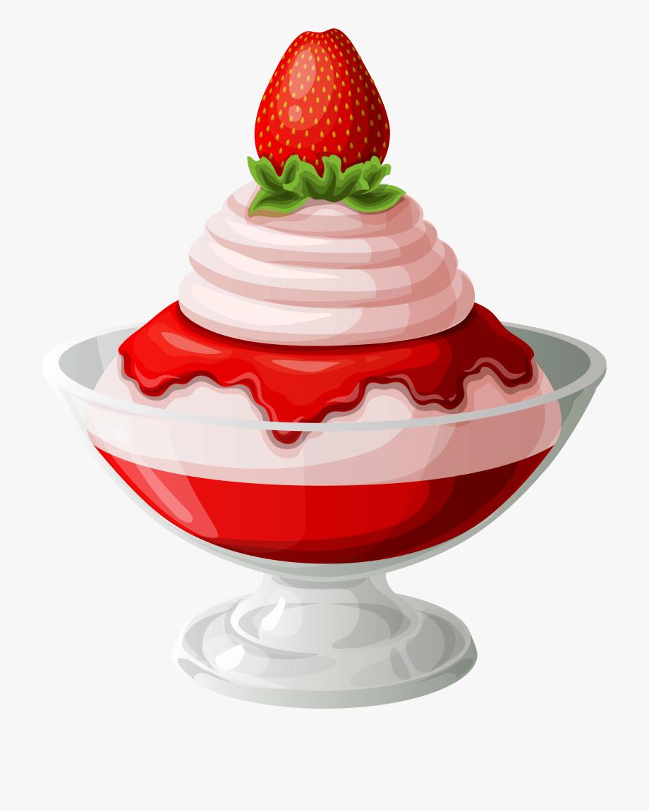 Ice cream transparent . Strawberries clipart strawberry sundae
