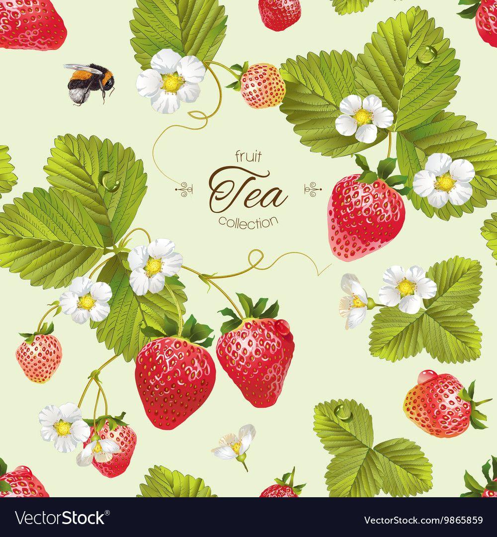 Strawberries clipart strawberry tea. Pin by estelle hamman