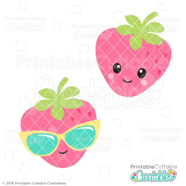 Strawberries clipart svg. Cute strawberry file for