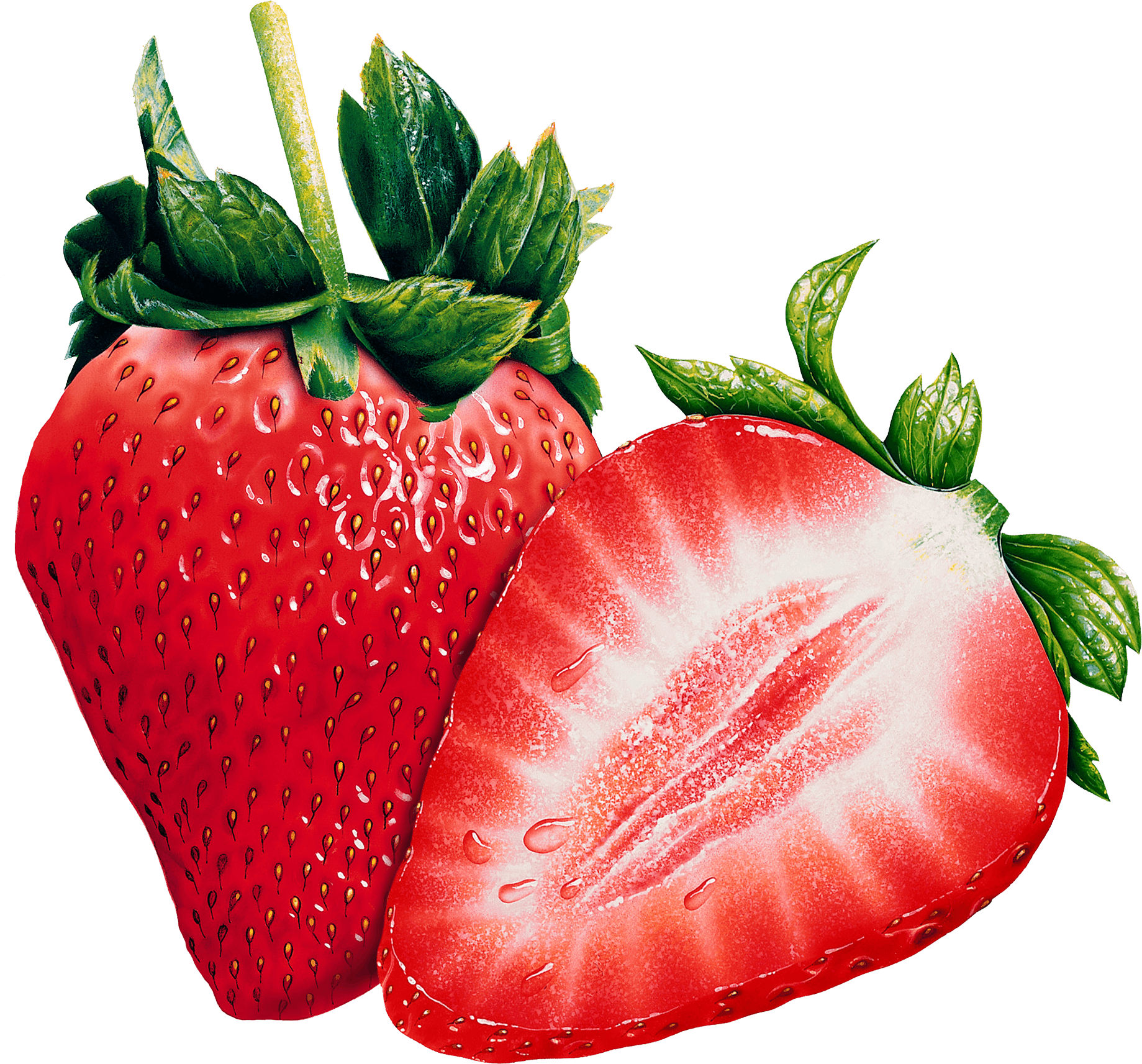 Strawberries clipart three. Open transparent png stickpng