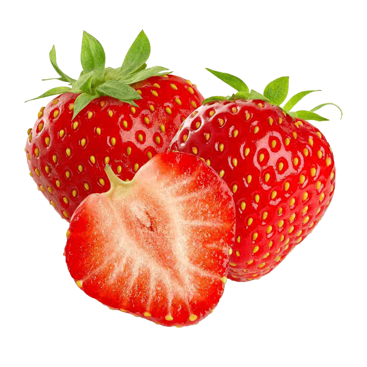 Strawberries clipart three. Transparent png stickpng