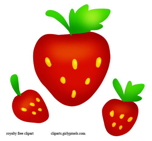 Strawberry cliparts panda free. Strawberries clipart three