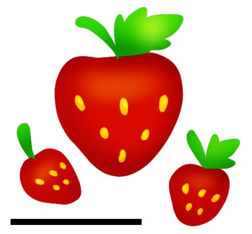 Strawberry cliparts panda free. Strawberries clipart three