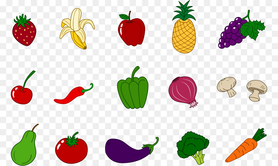 Strawberries clipart vegatable. Vegetable cartoon food strawberry