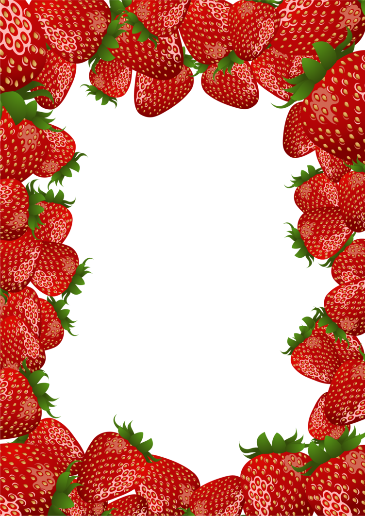Strawberries clipart vintage strawberry. Frame by flashtuchka on