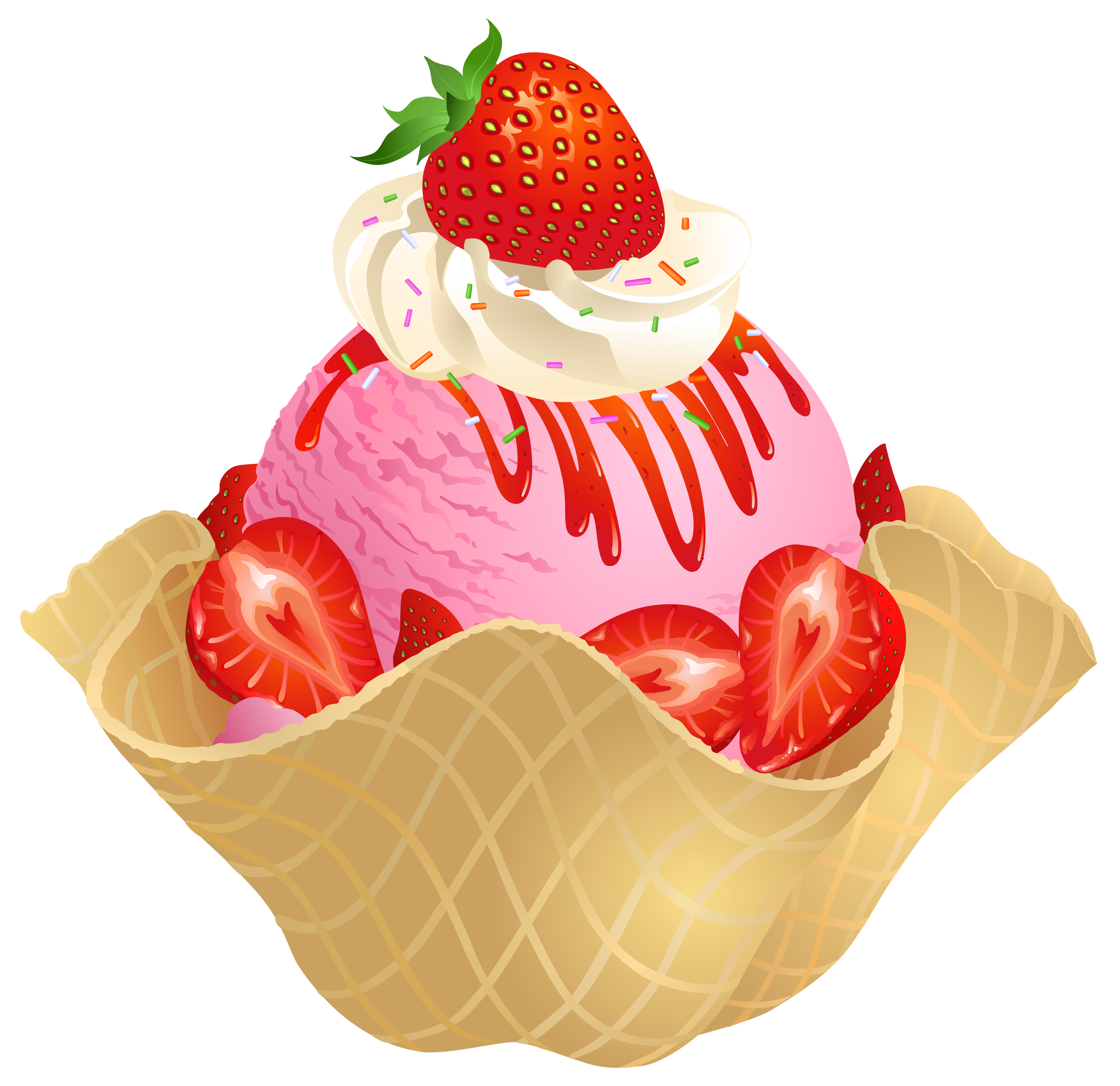 Strawberries clipart wallpaper. Transparent strawberry ice cream