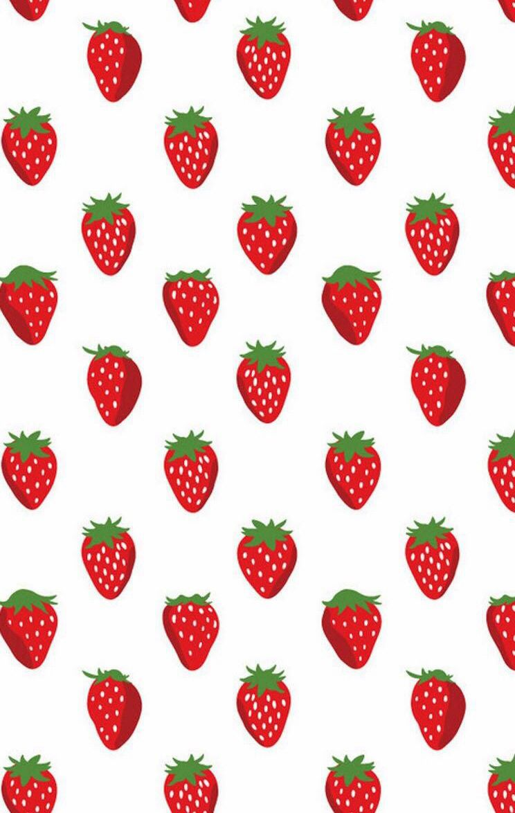 Strawberries clipart wallpaper. Strawberry patterns in pattern