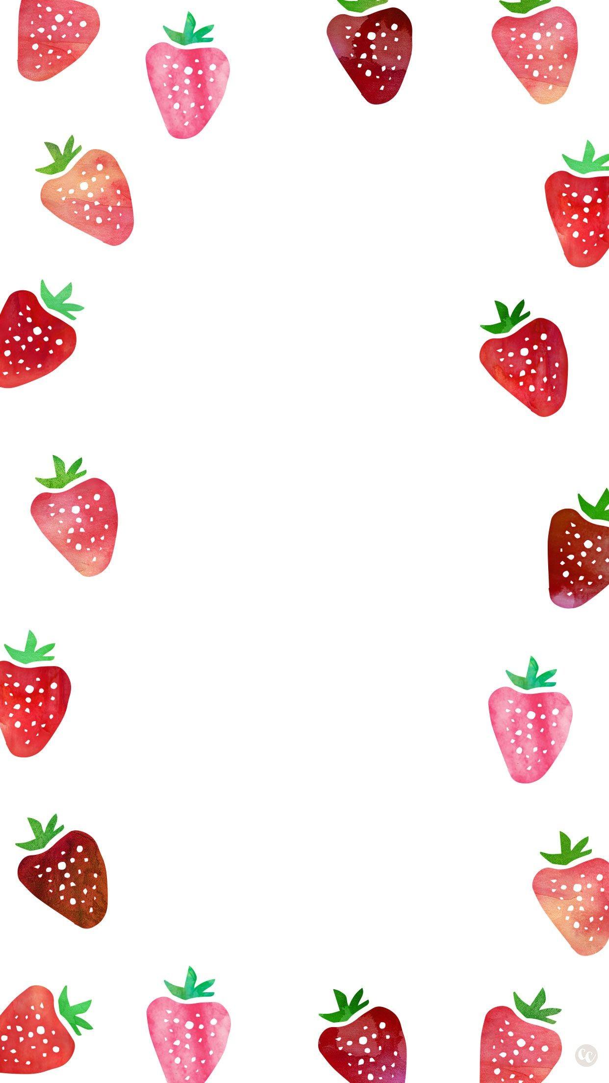 kawaii strawberry wallpapers. Strawberries clipart wallpaper