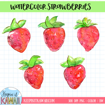 Strawberries clipart watercolor. Clip art