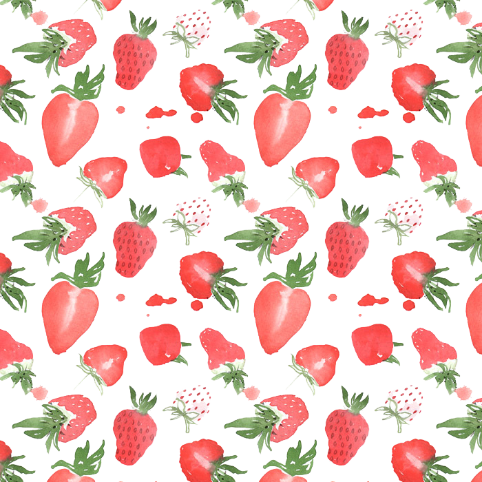 Strawberry painting illustration fruit. Strawberries clipart watercolor