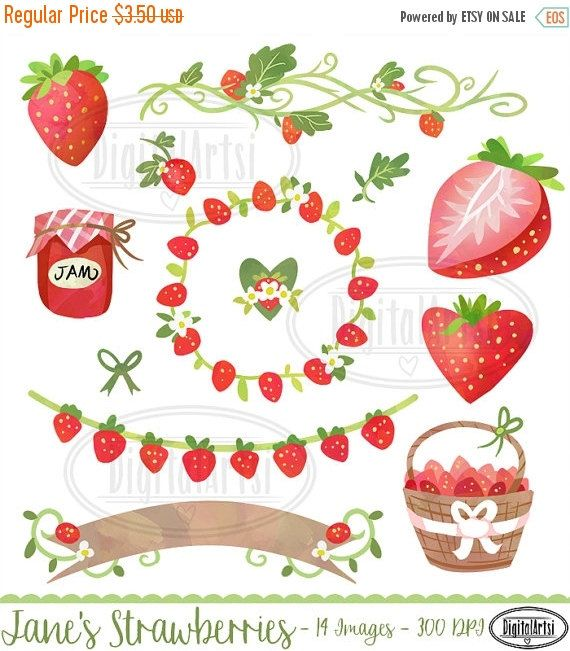 Strawberries clipart wreath. Watercolor strawberry banners