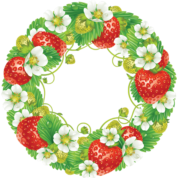 Pin by cayndzz tan. Strawberries clipart wreath