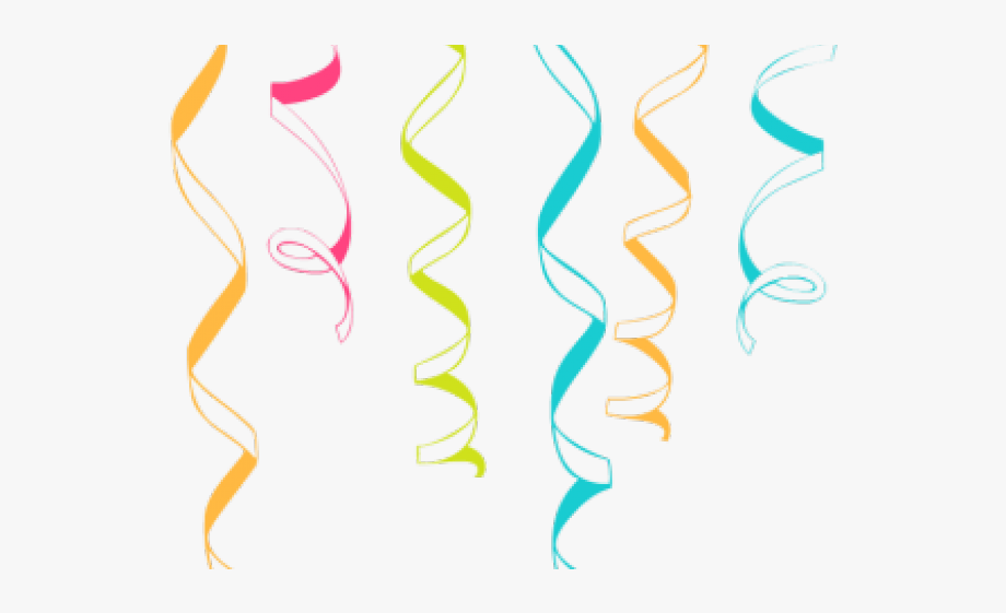 Jpg black and white. Streamers clipart