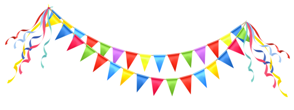 Transparent party streamer png. Streamers clipart