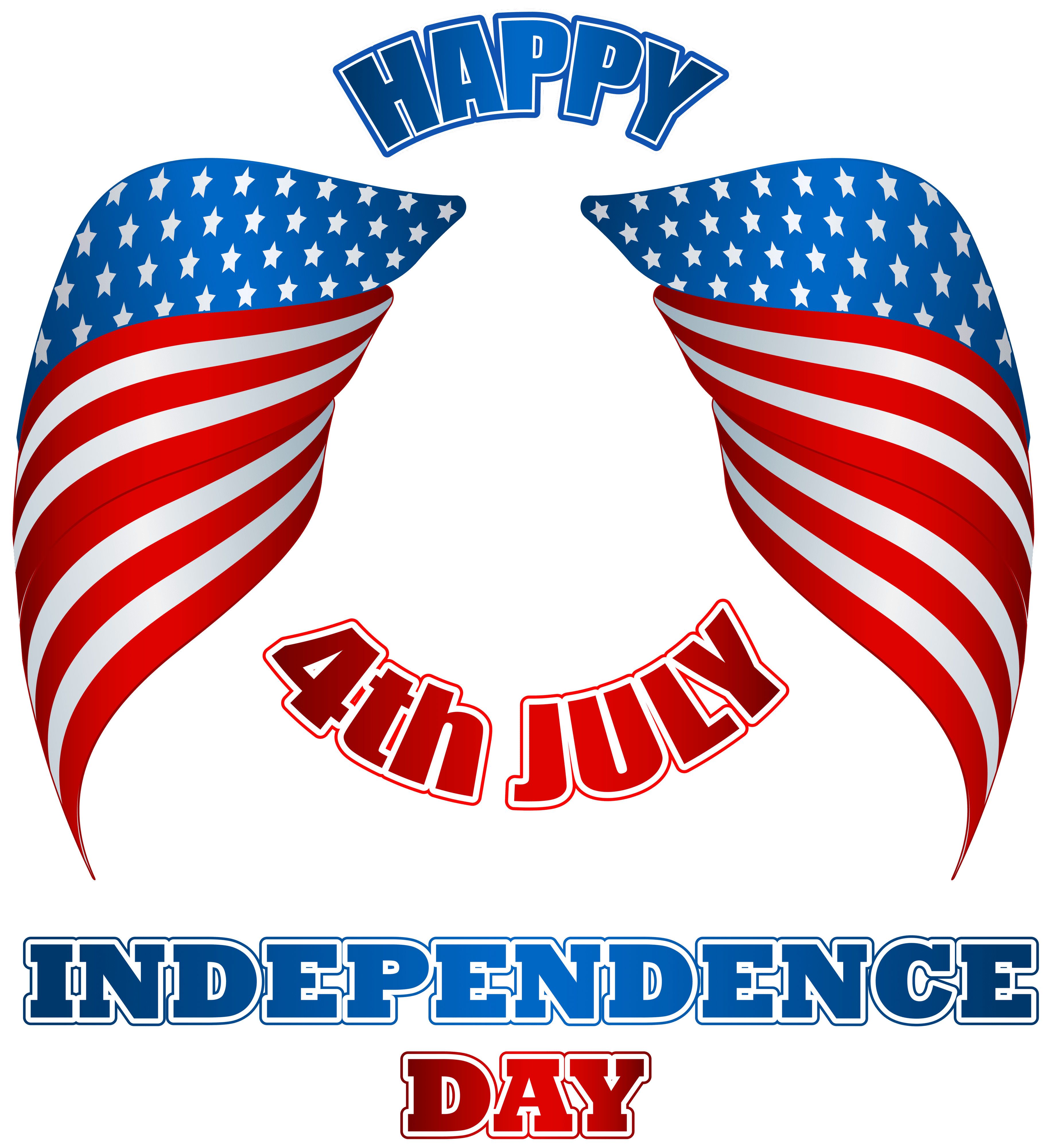 Streamers clipart 4th july.  th american wings