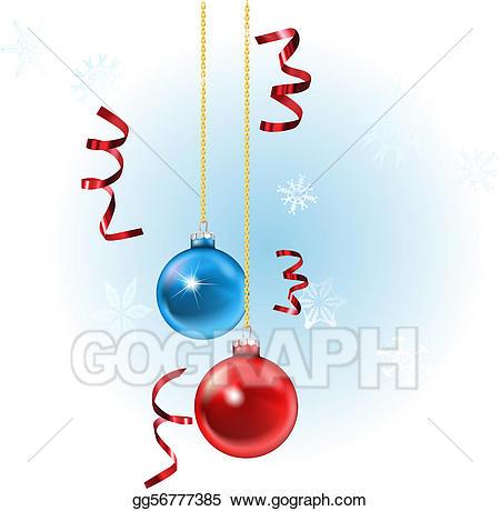 Vector art xmas baubles. Streamers clipart christmas