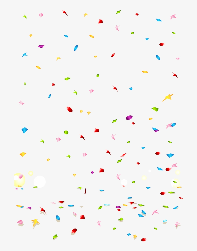 Streamers clipart clear background. Confetti transparent png