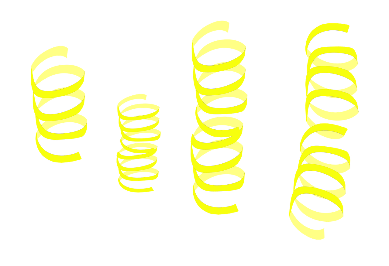 Streamers clipart confetti explosion. Yellow transparent png stickpng