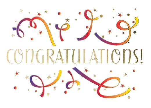 Streamers clipart congratulation. Celebratory congratulations from cardsdirect