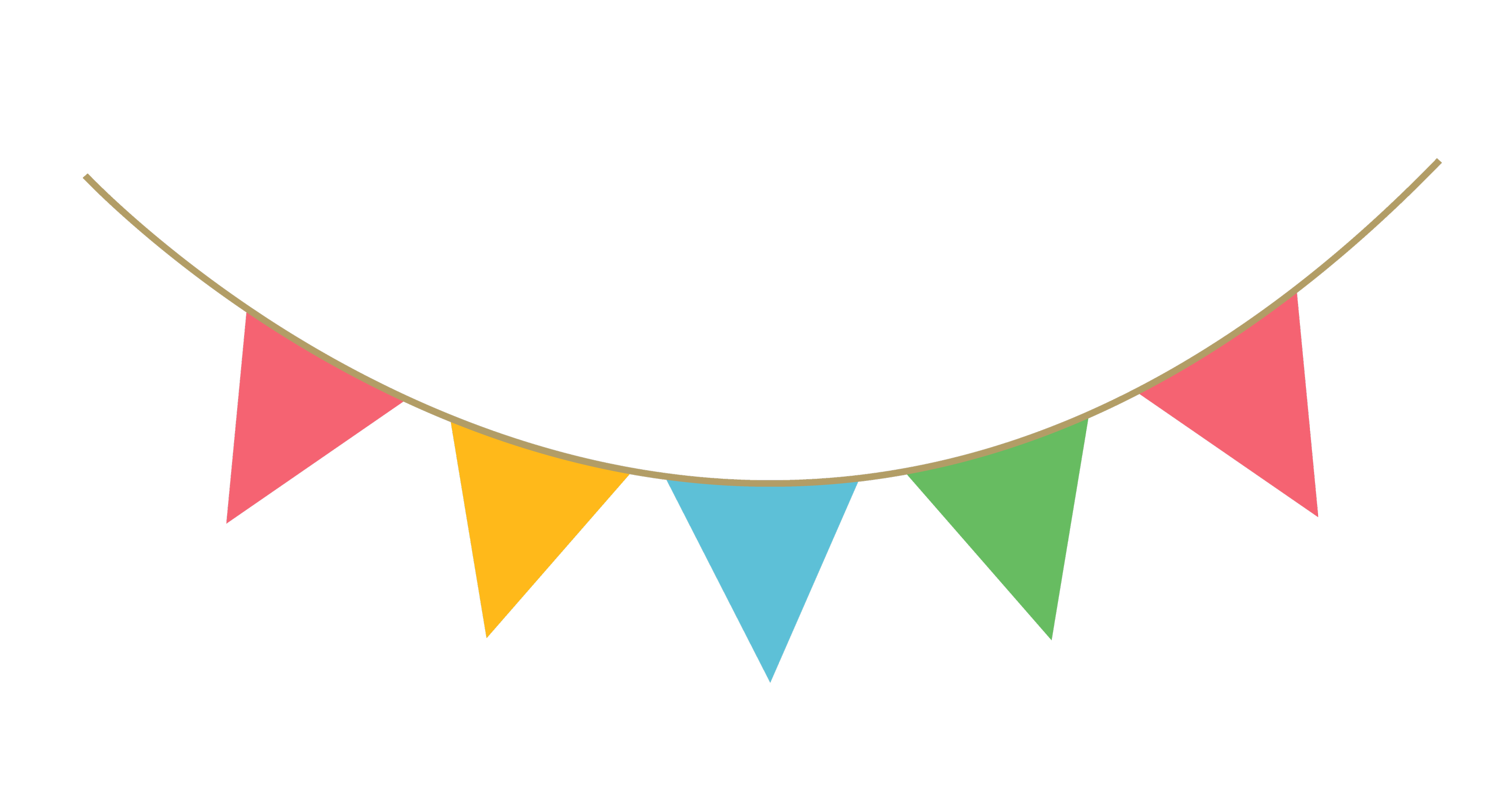 Party streamer decoration png. Streamers clipart deco
