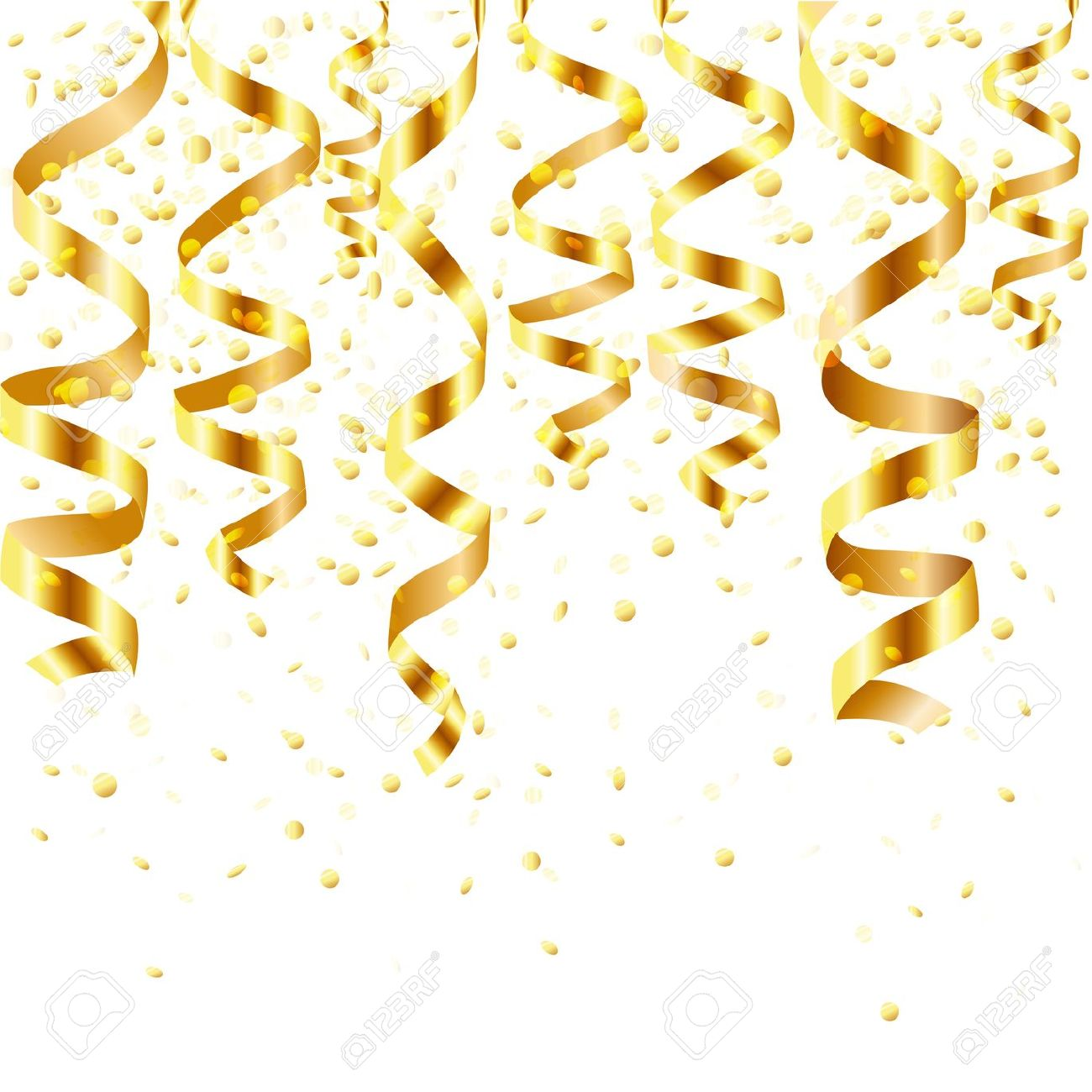 Gold cliparts making the. Streamers clipart golden