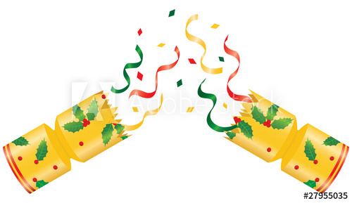 Broken christmas with buy. Streamers clipart party cracker